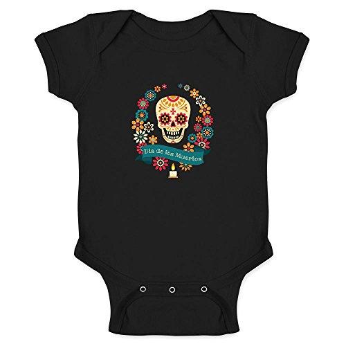 Dia de los Muertos Sugar Skull Halloween Horror Black 24M In