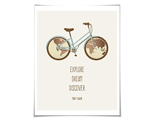 explore-dream-discover-art-print-mark-twain-quote-5-sizes-bicycle-bike-world-map-travel-poster-adven
