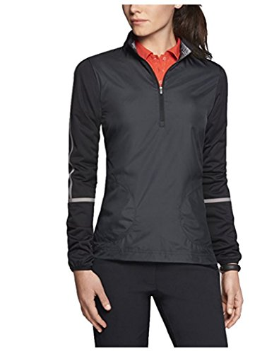 Nike Women's Dri-FIT Windproof Half-zip Golf Jacket, Black