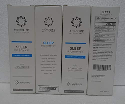 Vasayo Microlife Sleep Micromyst Dietary Supplement 2oz (Pack of Four) by Vasayo (Image #1)