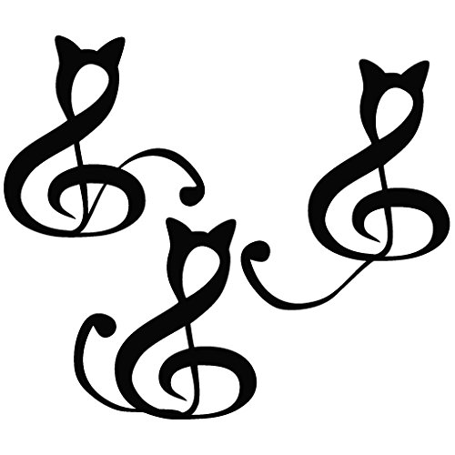 Clef Cat Image - Tribal Decal Vinyl Car Wall Laptop Cellphone Sticker