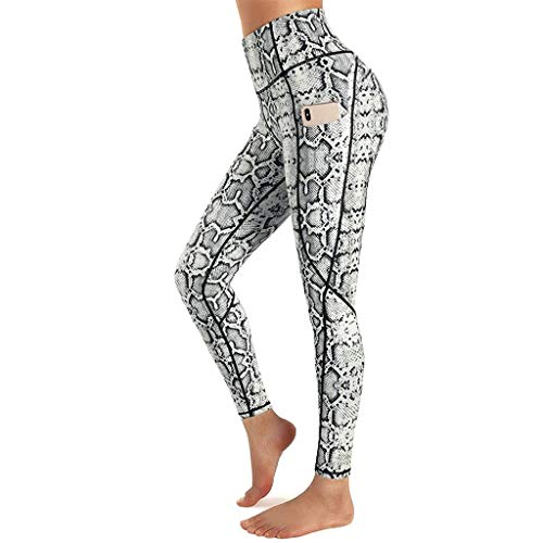Women's High Waist Yoga Pants-Hips Anti Cellulite Slimming Printing Leggings