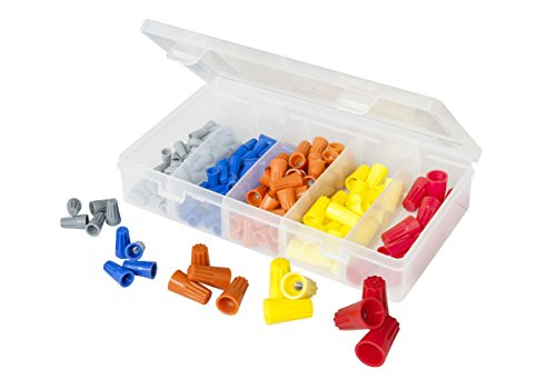 (160 PCS Twist-On Wire Connector Assortment - Grey, Blue, Orange, Yellow, and Red Easy Twist-On Ribbed Cap - UL & CSA Listed)