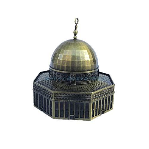 (Kiartten Retro Bronze Metal The Dome of The Rock Figurine Statue Mosque Building Model Vintage Home Desktop Decoration Gift 1 Pcs - Sheet Metal Figurines)