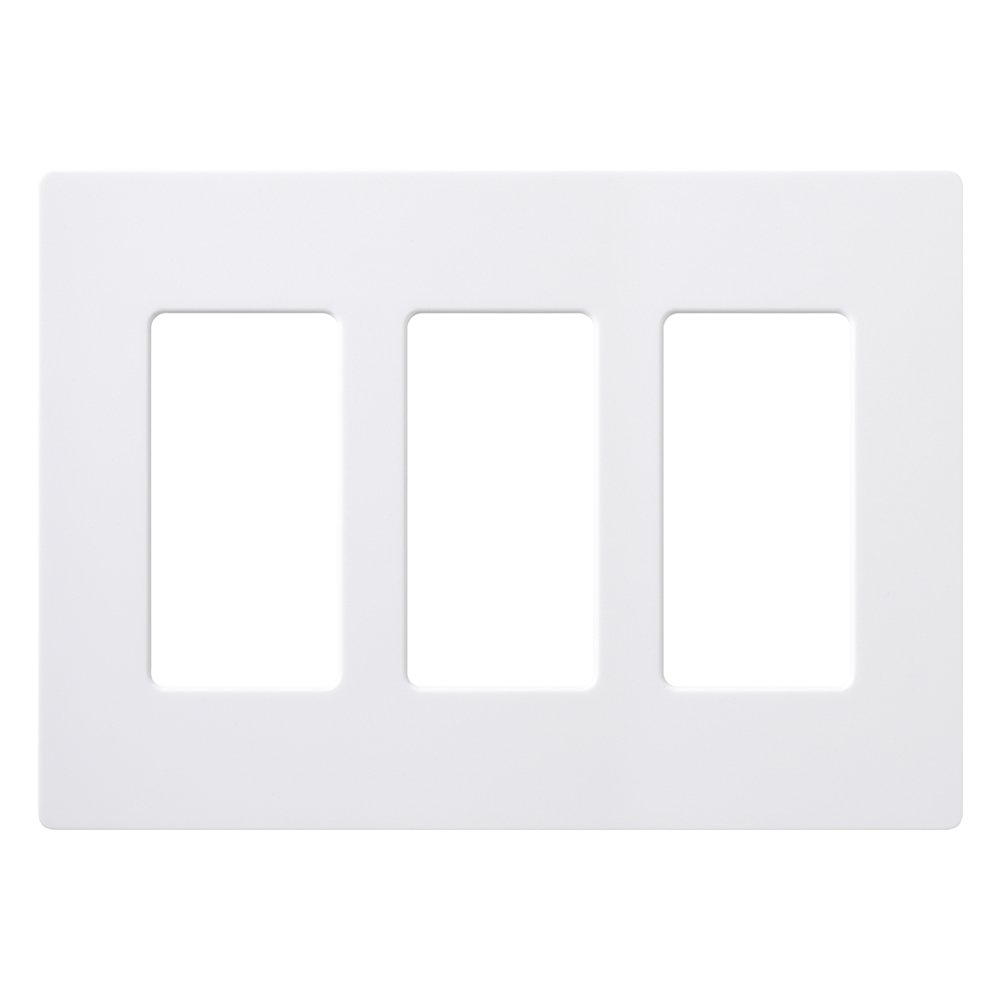 lutron cw 3 wh 3 gang claro wall plate white chickadee solutions. Black Bedroom Furniture Sets. Home Design Ideas