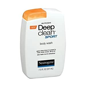 Neutrogena Deep Clean Sport Body Wash 7.5 Oz (Pack of 3)