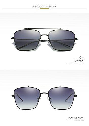 C4 Sol para 400 Aviator Gafas De UV Protección Mujer Polarizadas para C4 Hombre 7x1v51Y