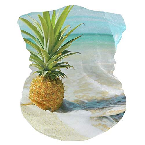 Sea Waves And Pineapple Outdoor Magic Headband Multifunctional Elastic Seamless Bandana Scarf UV Resistence Sport Headwear ()