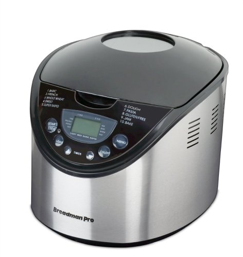 Breadman TR875 2-Pound Breadmaker, Stainless Steel
