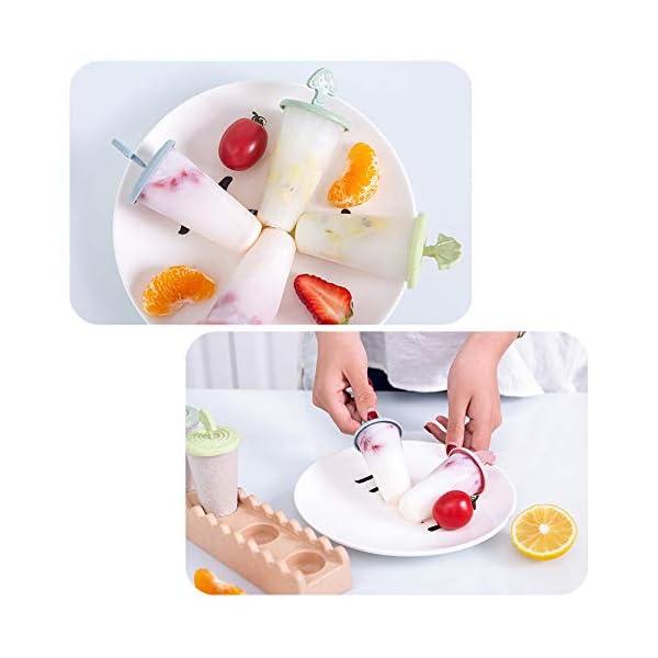 Maojie - Stampo per gelato fai da te, con 4 scomparti, con vassoio 5 spesavip