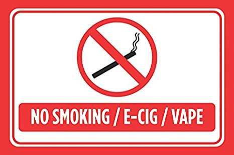 picture relating to Printable No Smoking Signs referred to as No Using tobacco E-Cig Vape Purple White Print Swim Legislation Swimming Think about Horizontal Poster Out of doors Interest Signal
