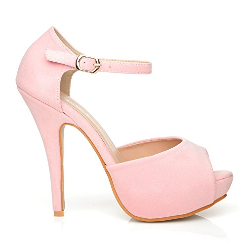 BABY femme Escarpins SUEDE London ShuWish UK PINK rose pour gZwfq