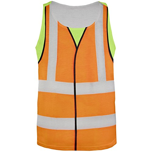 Old Glory Halloween Road Worker Costume All Over Adult Tank Top - Small -