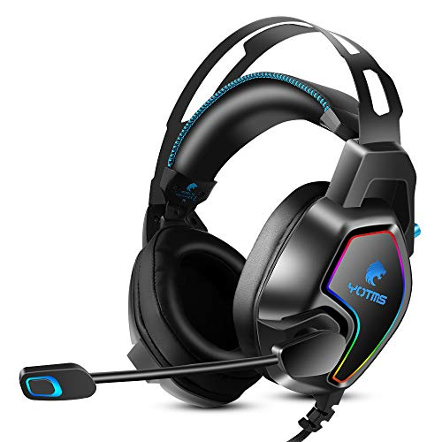 YOTMS PS4 Headset, Xbox One Stereo Gaming Headset with 7.1 Surround Sound, Noise Canceling Over Ear Headphones with Mic…
