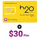 H2O Wireless 3-in-1(Regular,Micro &Nano) All in one Sim Card with $30 First Month Included