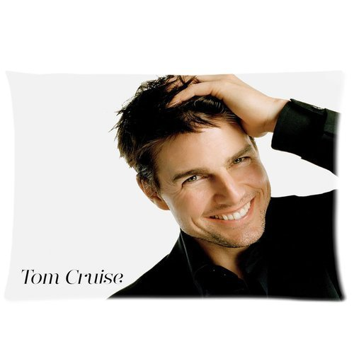 Brand New Tom Cruise Rectangle One Pillow Case 20x30 (one side) Comfortable For Lovers And Friends (Tom Cruise Style)