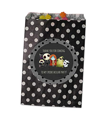 Silly Goose Gifts Nightmare Before Christmas Birthday Party Baby Shower Invite Decor Supply Stickers Favor (Party Favor Bag)]()