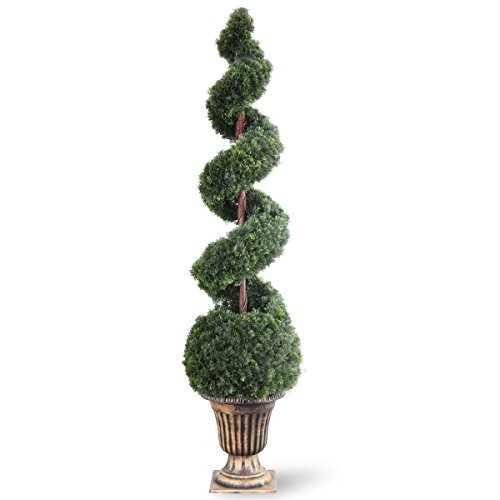 (National Tree 66 Inch Cedar Spiral Tree with Ball in Decorative Urn (LCSB4-702-66) )