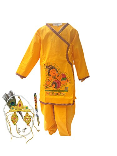Krishna in Cotton fancy dress for kids,Krishnaleela/Janmashtami/Kanha/Mythological Character for Annual function