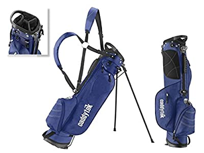 CaddyTek Deluxe Sunday Carry Bag with Stand - Blue