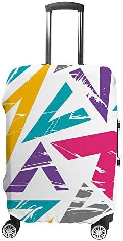 スーツケースカバー トラベルケース 荷物カバー 弾性素材 傷を防ぐ ほこりや汚れを防ぐ 個性 出張 男性と女性多色手描きパターン