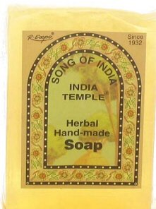 Indian Temple Incense - India Temple Herbal Hand Made Soap - Song of India - 100 Gram (3.3 Ounce) Bar