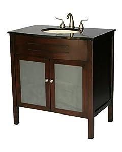 34 Inch Contemporary Style Single SInk Bathroom Vanity Model 3020 S