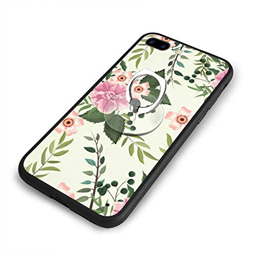 Wild Rose Metal Pedestal (Wildflowers and Roses Case and Mobile Phone Stand Iphone8 Plus,iphone7 Plus Case,Iphone8 Plus Case,Shock-Absorption & Skid-Proof Anti-Scratch Case for Apple Iphone7 Plus/8 Plus)