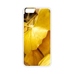 Okaycosama Funny IPhone 6 Cases Fallen Ginkgo Leaves for Teen Girls Protective, Cute Iphone 6 Case, [White]