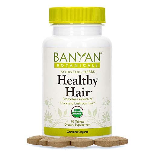 Banyan Botanicals Healthy Hair Tablets – Organic Hair Supplement with Amla & Bhringaraj – Ayurvedic Hair Care for Thick…