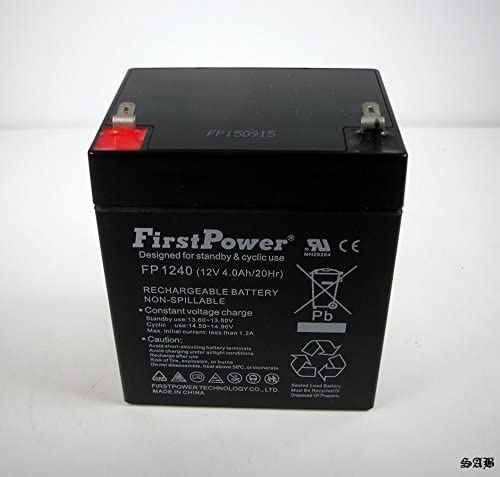 FirstPower 12V 4AH SLA Replacement Battery with F1 Terminal for DJW12-4.5