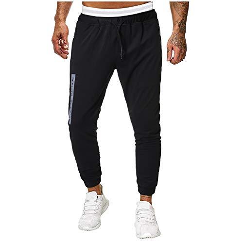 - Casual Splicing Pure Color Overalls Men's Pocket Sport Work Casual Trouser Pants Black