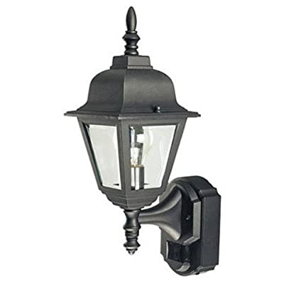 Heathco HZ-4191-BK Bk Country Cottage Style Motion Activated Decorative Lantern