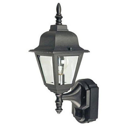 Country style outdoor lights amazon heathco hz 4191 bk bk country cottage style motion activated decorative lantern aloadofball Images
