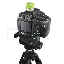 Three Axis Hot Shoe Bubble Level for all DSLR Cameras with a Standard Hot Shoe Mount (Canon Nikon Sony)