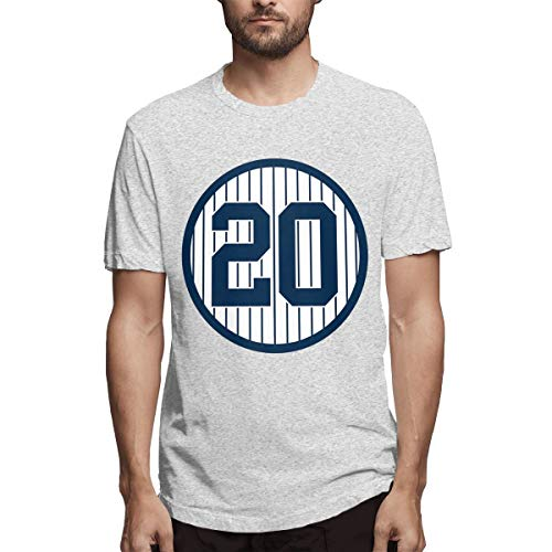 Men's Classic Solid Ultra Soft Cotton Crew Neck Jorge-Posada-Retired-Number #20 T-Shirt Multipack Gray