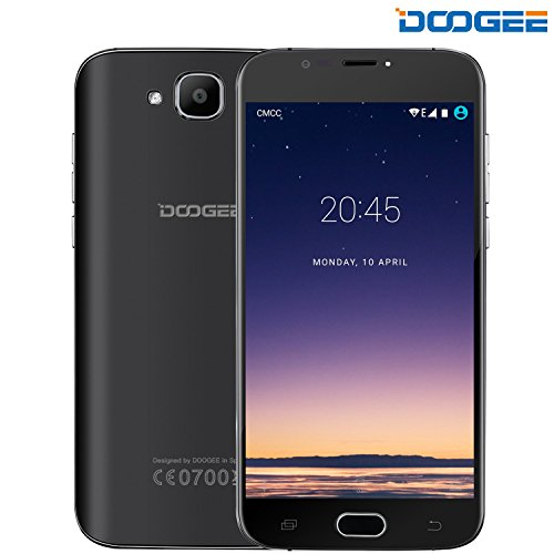 "Unlocked Cell Phones, DOOGEE X9 MINI Dual Sim Smartphones - 5.0"" HD IPS Display - MT6580 Quad Core - 8GB ROM - 5MP Camera - GSM Android 6.0 Unlocked T mobile Phones No Ads - Black…"