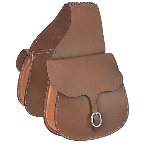 Tough-1 Leather Saddle Bag