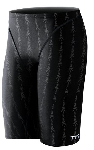 TYR Men's Fusion 2 Jammer Swim Suit (Black, 30 - Suit Jammer