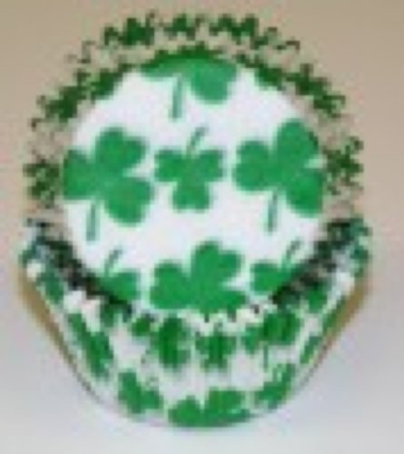 100 Shamrock Print Cupcake Liners Baking Cups STANDARD SIZE