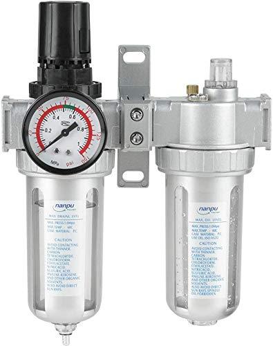 2 Filtro Aria Compressore Olio Strumenti di Separazione Trappola Lubrificatore SFC400 Filtro Regolatore per Aria Compressa da G1