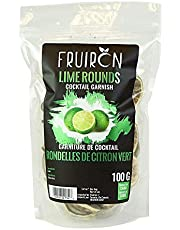 Fruiron Freeze Dried Lime Rounds - 100g (3.5oz) | Cocktail Garnish for The Master Mixologist, Free Cocktail Recipe E-Book