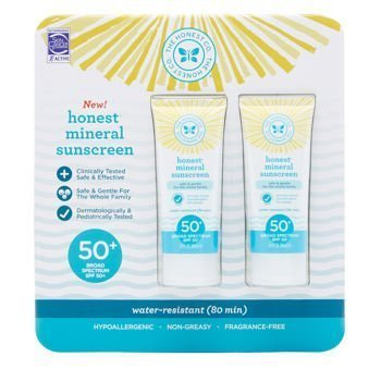 The Honest Company Honest Mineral Sunscreen Lotion SPF 50 2-pack 3.0oz
