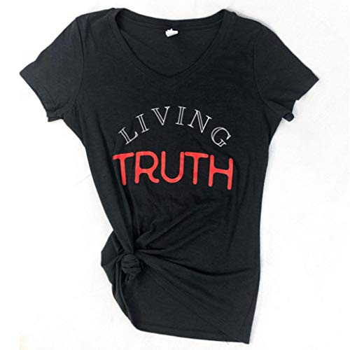 Living Truth Tri Blend T Shirt Inspirational Graphic Tees for Women Fashionable and Athletic Light Weight Tee (M) - T-shirt Graphic Truth