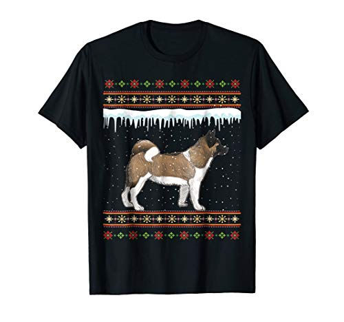 Akita Ugly Christmas T-Shirt