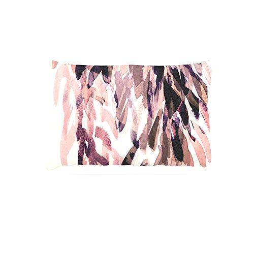 Kess InHouse Iris Lehnhardt Abstract Leaves II  Brown Tan Fleece Dog Bed, 30 by 40