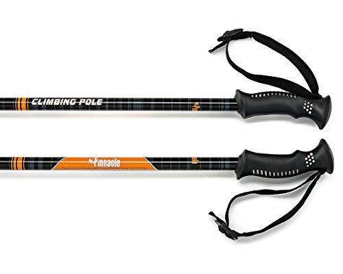 New Real Wood Carbon (Pinnacle Hiking Poles- Trekking Poles for Men Women- Free Carry Bag)