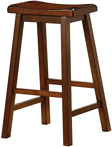 BOWERY HILL 29″ Wooden Backless Bar Stool