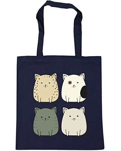 42cm Kitty Bag x38cm Squad cat HippoWarehouse Gym Shopping Tote Beach 10 Navy litres French pq8fFd