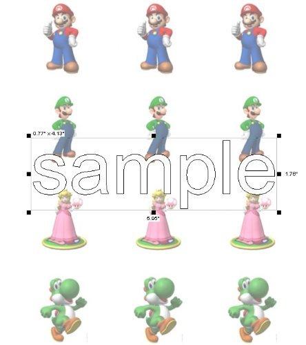 Twelve 2 Mario & Friends Edible Cupcake Toppers Frosting Sheet. by Kopykake